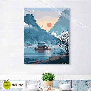 Tranh tô màu Phong Cảnh Bình Yên T964