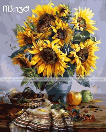 Tranh tô màu Hoa Hướng Dương Rực Rỡ 138