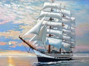 Tranh tô màu Buồm căng gió 157