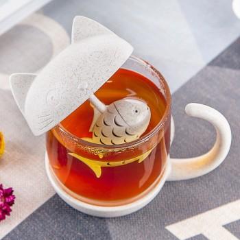 Tách trà Mèo kèm bộ lọc