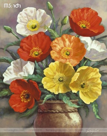 Tranh tô màu Hoa Khoe Sắc 181