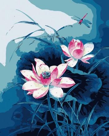 Tranh tô màu Hoa Sen Trong Đêm 186