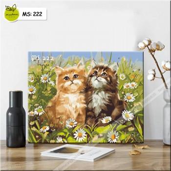 Tranh tô màu hai chú mèo 222