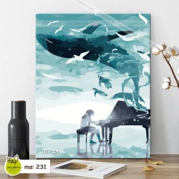 Tranh tô màu nghệ sỹ đại dương T231