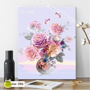 Tranh tô màu hoa hồng phú quý T286