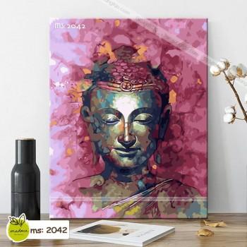 Tranh tô màu theo số chân dung Đức Phật T2042