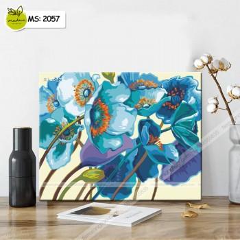 Tranh tô màu sắc hoa T2057