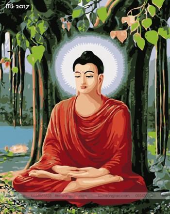 Tranh tô màu theo số Đức Phật Thích Ca Mâu Ni T2017