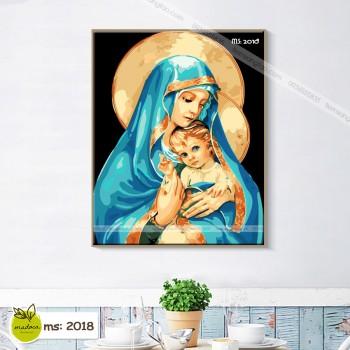 Tranh tô màu theo số Đức Mẹ Maria T2018