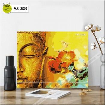 Tranh tô màu theo số Phật và thiên nhiên T2019