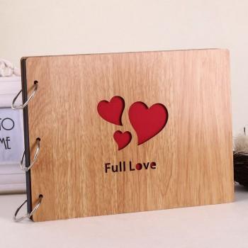 Album gỗ lớn 3 trái tim