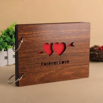 Album gỗ nhỏ 2 trái tim AGN1