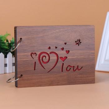 Album gỗ nhỏ i love you AGN10