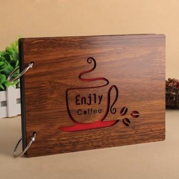 Album gỗ nhỏ ly cafe AGN8