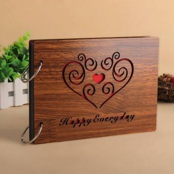 Album gỗ nhỏ trái tim mây AGN5