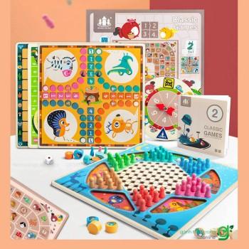 Bộ cờ boardgame 2 mặt classic games