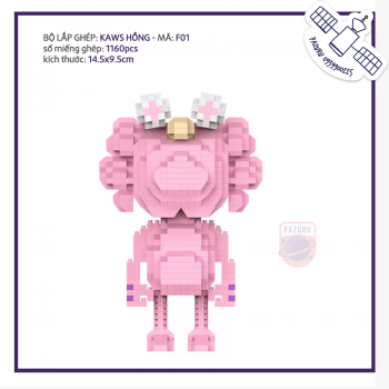 Bộ lego Kaws hồng