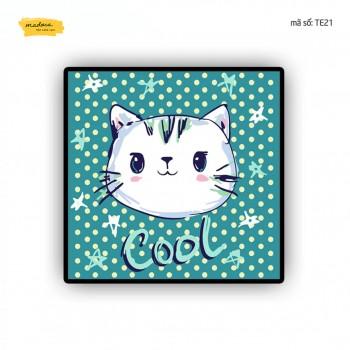 Trah tô màu Mèo cool TE21