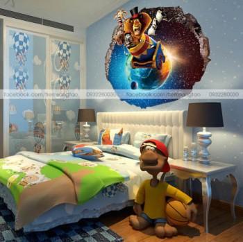 Tranh 3D Madagasca