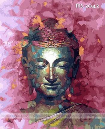 Tranh không khung 50x65 chân dung Đức Phật L2042