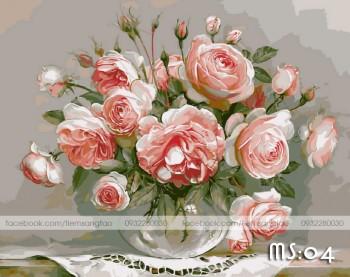 Tranh không khung 50x65 hoa hồng L04