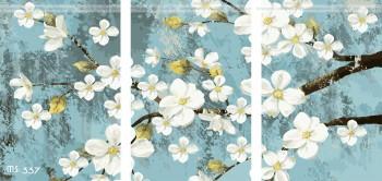 Tranh tô màu bộ 3 Hoa Mai MS 337