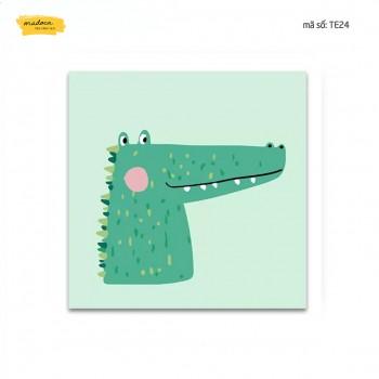Tranh tô màu Chú các sấu dễ thương TE24