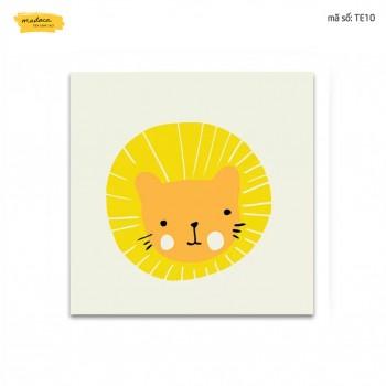 Tranh tô màu Chú mèo màu vàng TE9