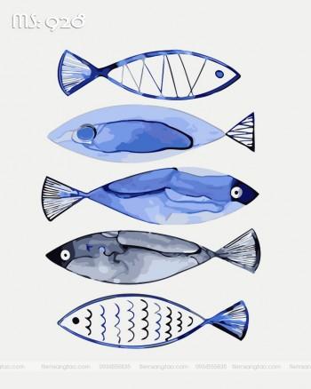 Tranh tô màu đàn cá 928