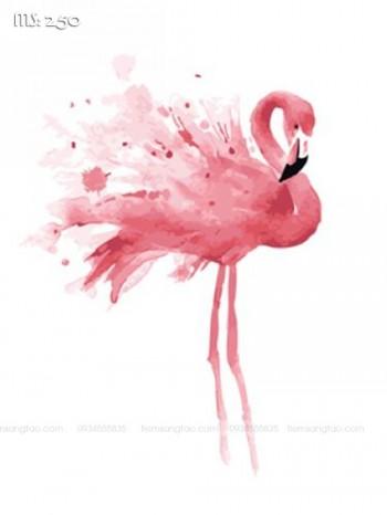 Tranh tô màu điệu múa hồng hạc 250