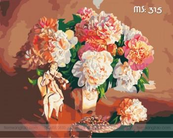 Tranh tô màu điệu nhạc cùng hoa 315