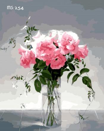 Tranh tô màu đóa hồng tình yêu 254