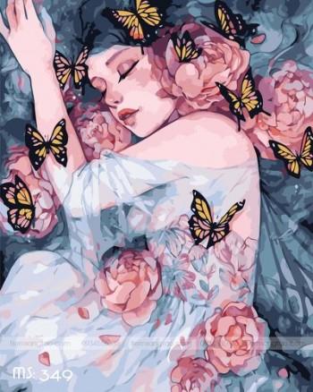 Tranh tô màu giấc mơ hoa MS 349