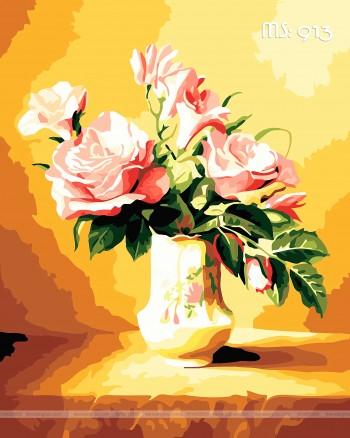 Tranh tô màu hoa hồng 913