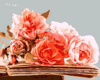 Tranh tô màu hoa hồng trên trang sách 241
