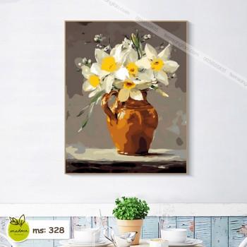 Tranh tô màu hoa loa kèn 328