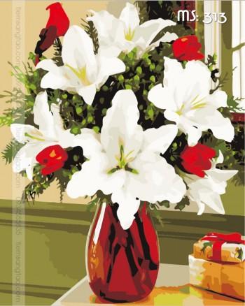 Tranh tô màu hoa ly kiêu sa 313