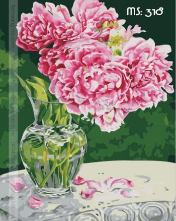 Tranh tô màu hoa nghiêng 318