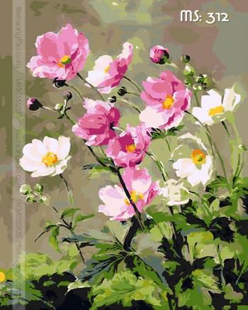 Tranh tô màu hoa trong gió 312