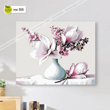 tranh tô màu 50x65 hoa mộc lan
