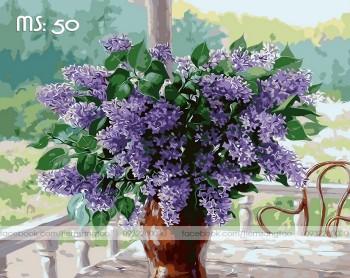Tranh tô màu 50x65 lavender