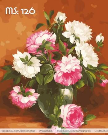 Tranh tô màu Hoa ngọt ngào 126
