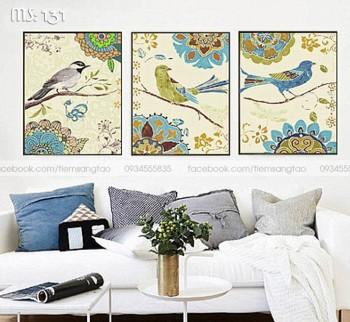 Tranh tô màu Bộ 3 Chim Sắc Màu 131