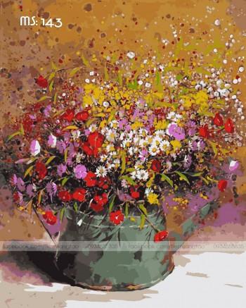 Tranh tô màu Bình Hoa Nhí Rực Nỡ 143