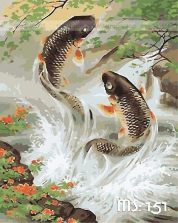 Tranh tô màu Cá Chép 151