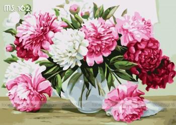Tranh tô màu Hoa Mẫu Đơn 162