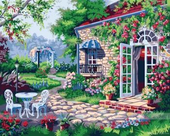 Tranh tô màu Ngôi Nhà Hoa Hồng 173