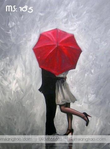 Tranh tô màu Hôn em trong mưa 185