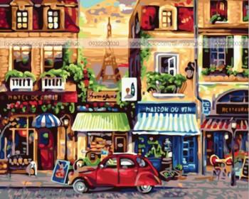 Tranh tô màu Đường Phố Paris 19