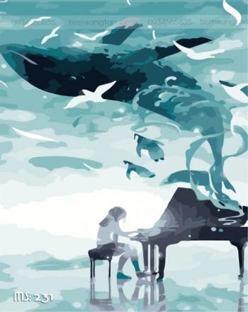 Tranh tô màu nghệ sỹ đại dương 231